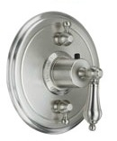 California Faucets TO-TH2L-55 Coronado Series 55 Thermostatic Round Styletherm 2 Function Shower Trim