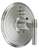 California Faucets Sausalito 57 Series TO-TH1L-57 Styletherm Round Shower Trim only with Single Volume Control