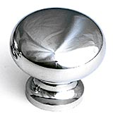 "1 1/4"" Polished Chrome Traditional Knobs by Schaub, Schaub and Company 706-26"