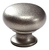 "1 1/4"" Distressed Nickel Knobs by Schaub, Schaub 706-DN"