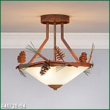 Avalanche Ranch A48720 Wisely Semi Flush Pine Cone Lamp