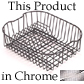 Franke CP-50C Coated Stainless Drain Baskets with Removable Plate Rack