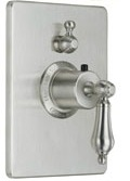 California Faucet TO-THC1L-55 Coronado Series 55 Thermostatic Rectangle Styletherm 1 Function Shower Trim