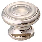 "1 1/2"" Polished Nickel Round Knobs by Schaub, Schaub 704-PN"