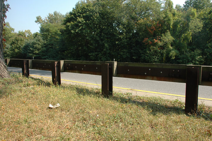 Steel-Backed Timber Guardrail
