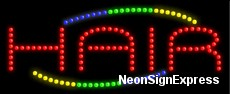 Hair LED Sign