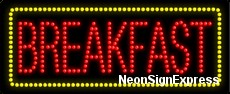 Breakfast LED Sign