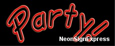 Neon Sign - PARTY