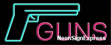 Guns, Logo Neon Sign