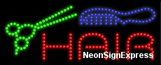 Hair (scizzor,comb) LED Sign