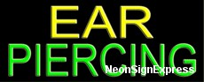 Ear Piercing Neon Sign