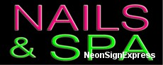 Neon Sign - NAILS & SPA