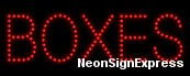 Boxes LED Sign