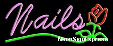Neon Sign - NAILS