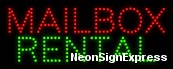 Mailbox Rental LED Sign