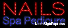 Nails Spa Pedicure LED Sign