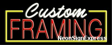 Neon Sign - CUSTOM FRAMING