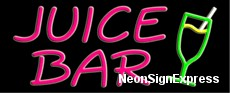 Juice Bar, Logo Neon Sign