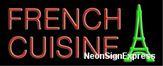 French Cuisine, Logo Neon Sign