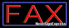 Neon Sign - FAX