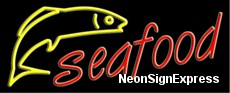Neon Sign - SEAFOOD LOGO