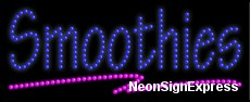 Smoothies LED Sign