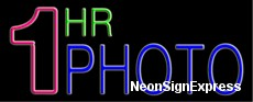 1 Hr Photo Neon Sign