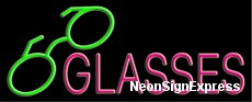 Glasses, Logo Neon Sign