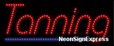 Tanning LED Sign