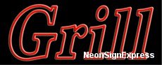 Neon Sign - GRILL