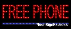 Free Phone LED Sign