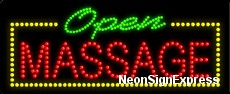 Open Massage LED Sign