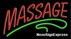 Neon Sign - MASSAGE