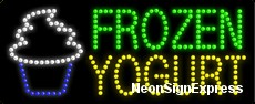 Frozen Yogurt, Logo LED Sign