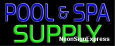 Pool and Spa Supply Neon Sign