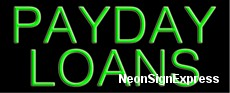 Neon Sign - PAYDAY LOANS
