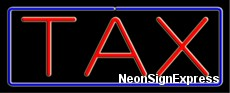 Neon Sign - TAX