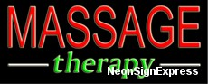 Massage Therapy Neon Sign