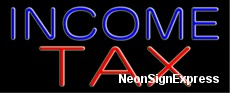 Neon Sign - INCOME TAX
