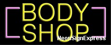 Neon Sign - BODY SHOP