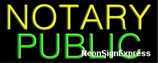 Neon Sign - NOTARY PUBLIC