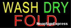 Wash Dry Fold Neon Sign