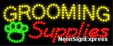 Grooming Supplies LED Sign