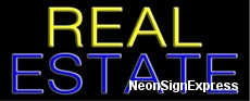 Neon Sign - REAL ESTATE