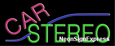 Neon Sign - CAR STEREO