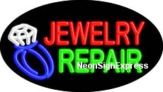 Jewelry Repair Flashing Neon Sign