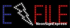 E File LED Sign