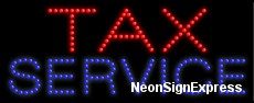 Tax Service LED Sign