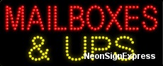 Mailboxes & UPS LED Sign