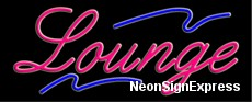 Neon Sign - LOUNGE
